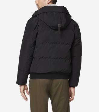 Cole Haan Oxford Down Hooded Bomber Jacket