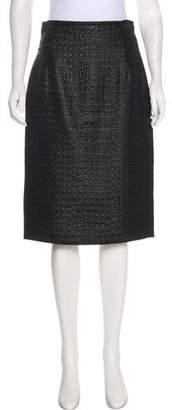 Max Mara Jacquard Knee-Length Skirt