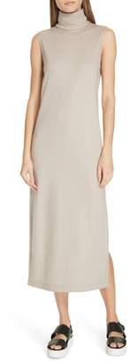 Vince Sleeveless Turtleneck Wool Blend Dress