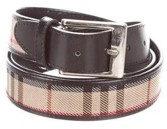 Burberry Leather Nova Check Belt