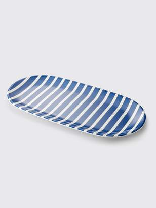 Draper James Crate and Barrel x Stripe Platter