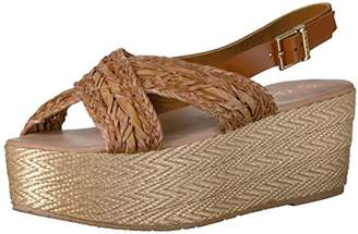 Kaanas Women's Nut Espadrille Wedge Sandal