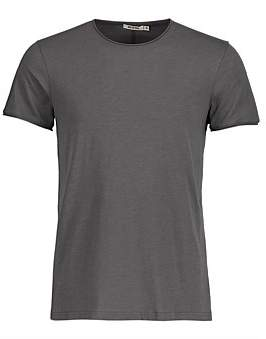 R & E RE: Plain Raw Edge Slub Cotton T-Shirt