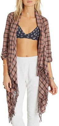 Billabong 'Liv It Up' Open Flannel Cardigan $54.95 thestylecure.com