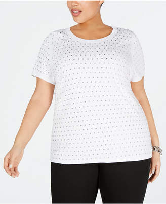 INC International Concepts I.n.c. Plus Size Rhinestone T-Shirt