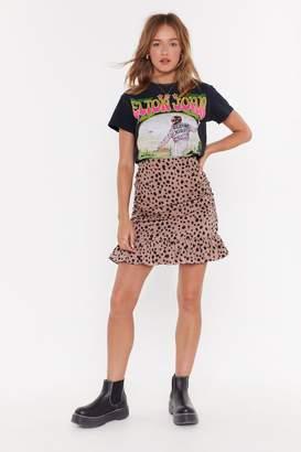 502f99736e Nasty Gal You're Sending Me Spotty Ruched Mini Skirt