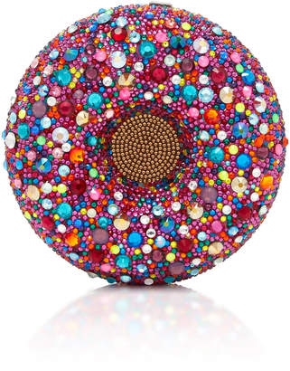 Judith Leiber Couture Confetti Donut Crystal Embellished Clutch