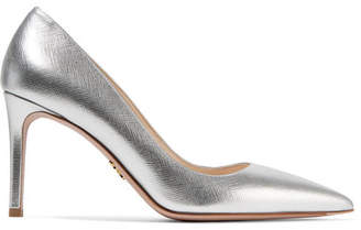 Prada - Metallic Textured-leather Pumps - Silver $655 thestylecure.com