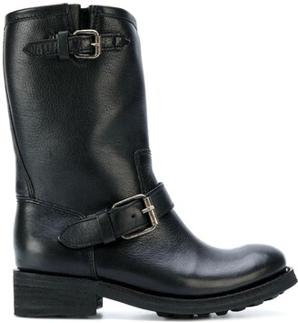 Ash mid-calf boots with buckles