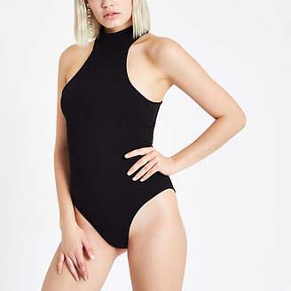 River Island Black high neck cut out bodysuit