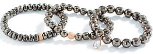 Dee Berkley Set of Three Pyrite Bracelets