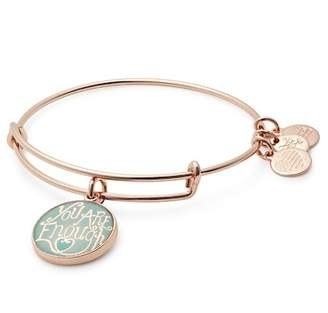 Alex and Ani Words Are Powerful You Are Enough Charm Expandable Wire Bracelet