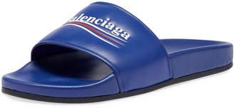 Balenciaga Campaign Logo Pool Slide Sandal