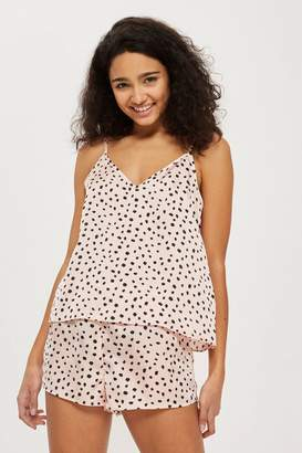 Topshop Spot Print Woven Camisole and Short Set