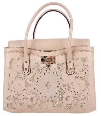 Valentino Embroidered Lace Satchel