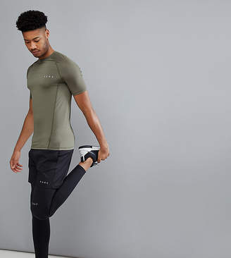 Asos 4505 TALL Muscle T-Shirt With Quick Dry In Khaki