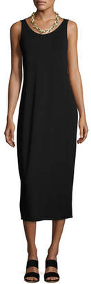 Eileen Fisher Jersey Scoop-Neck Midi Dress, Petite