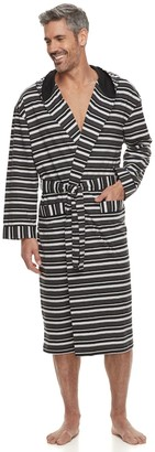 Men's Residence Jersey Knit Hooded Robe