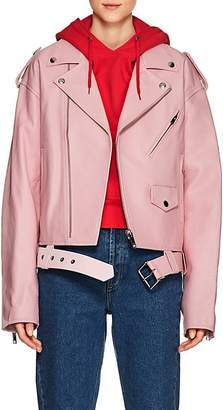 Ambush Women's Leather Oversized Moto Jacket
