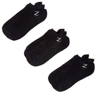 Zella Z By Nylon Back Tab Sport Socks - Pack of 3
