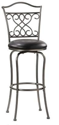 "Hillsdale Furniture 24"" Wayland Swivel Counter Stool Pewter/Black"