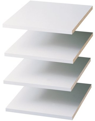 """Easy Track RS1412 12"""" Shelves - White (4 Count)"""