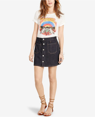Denim & Supply Ralph Lauren Button-Front Denim Skirt $89.50 thestylecure.com