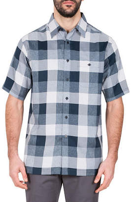 Haggar Microfiber Plaid Sport Shirt