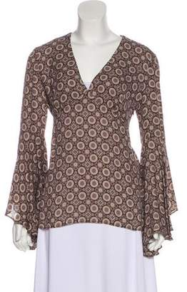 Michael Kors Silk Print Blouse
