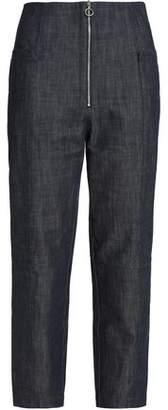 Tibi High-Rise Straight-Leg Jeans