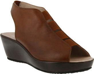 Spring Step Leather Wedge Sandals - Connie