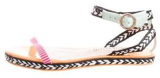 Sophia Webster Multicolor Woven Sandals