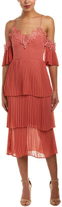Keepsake Pleated Tiered Midi Dress