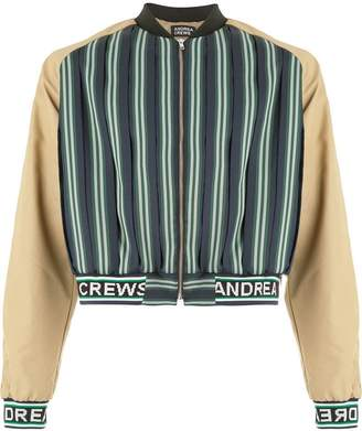 Andrea Crews cropped bomber jacket
