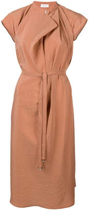 Lemaire belted cap sleeve dress