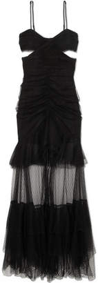 Alice McCall The Only Exception Cutout Layered Tulle Maxi Dress - Black