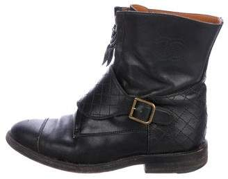 Chanel CC Quilted Leather Boots
