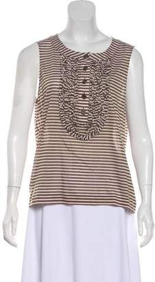Chanel Sleeveless Striped Top w/ Tags