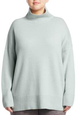 Lafayette 148 New York Lafayette 148 New York, Plus Size Relaxed Silk Turtleneck