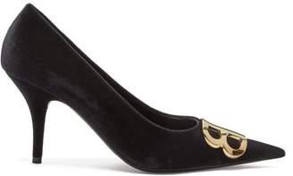 114a2bae3d3 Balenciaga Bb Velvet Pumps - Womens - Black
