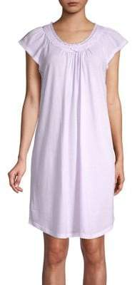 Miss Elaine Printed Cotton Blend Nightgown