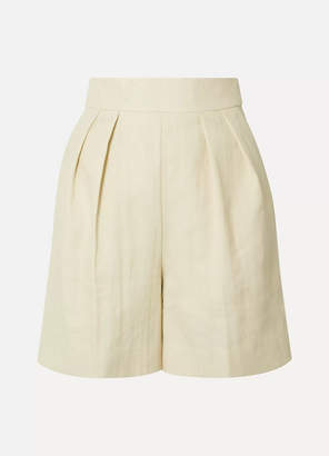 dc640908a7 Theory Pleated Woven Shorts - Ecru