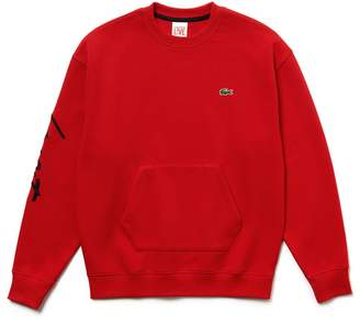 Lacoste Unisex LIVE Crew Neck Embroidered Fleece Sweatshirt