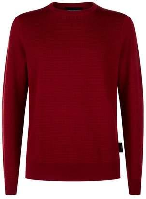 Emporio Armani Grid Texture Sweater