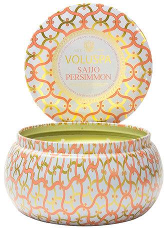 Voluspa Maison Blanc Saijo Persimmon 2-Wick Candle