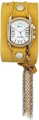 La Mer Collection's Women's LMTASSLE001C Removable Rainbow Tassel Charm Wrap Watch