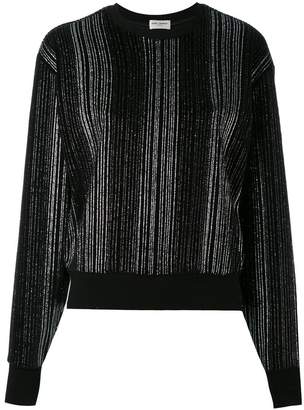 Saint Laurent metallic pleated sweater