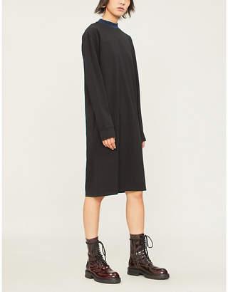 Acne Studios Logo-print cotton-jersey knee-length dress