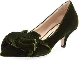 No.21 No. 21 Velvet Pumps with Knotted Bows