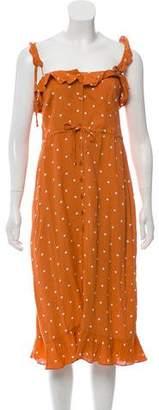 For Love & Lemons Sleeveless Midi Dress